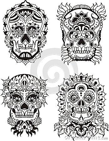 Free Floral Skulls Stock Images - 28065314