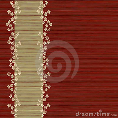 Floral slatted red background and menu bar