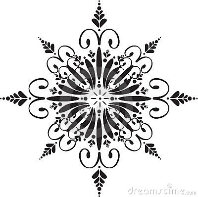 Free Floral Snowflake Stock Photography - 1246272