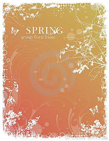 Free Floral Spring Frame Royalty Free Stock Photos - 13009808