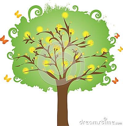 Floral spring tree