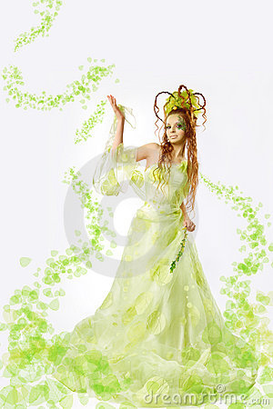 Floral spring  woman