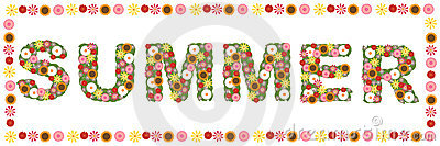 Floral summer word
