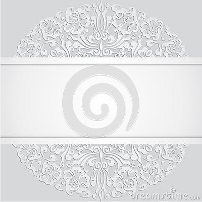 floral swirl vector white d invitation cards stock vector  image, invitation samples