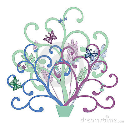 Floral Swirly Vector