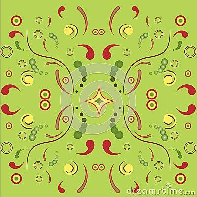 Floral symmetric ornament