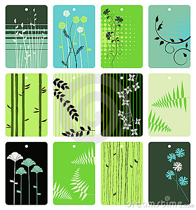 Free Floral Tags - Vector Set Stock Photography - 9106612