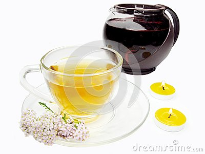 Floral tea with medical flowers