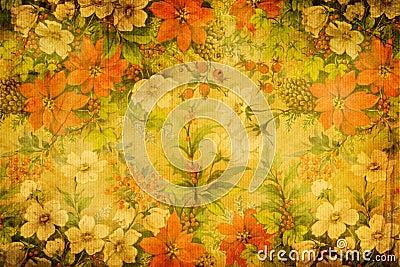 Floral textile weave texture