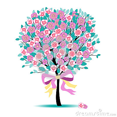 Free Floral Tree Royalty Free Stock Images - 24826629