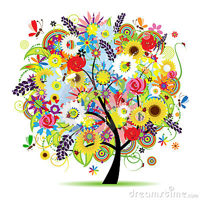 Free Floral Tree Beautiful Royalty Free Stock Photos - 13223888