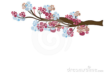 Floral tree branch