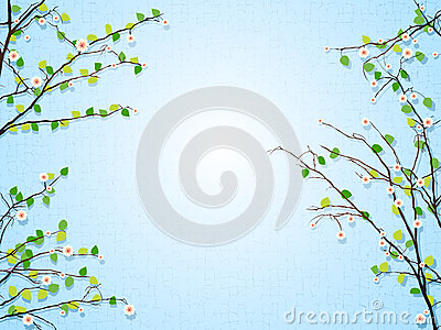 Floral tree illustration