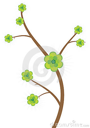 Floral tree -vector
