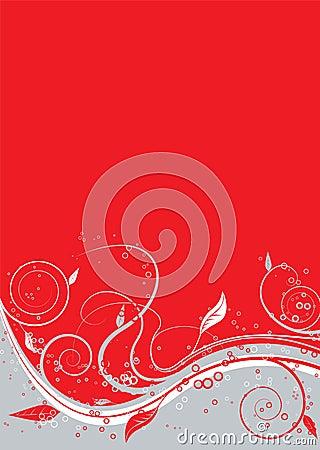 Floral twist red