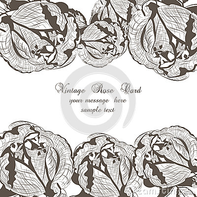 Floral Vector Vintage Invitation card Vector Illustration