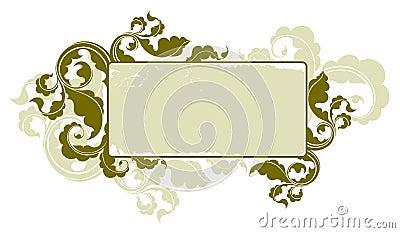 Floral vintage frame 1