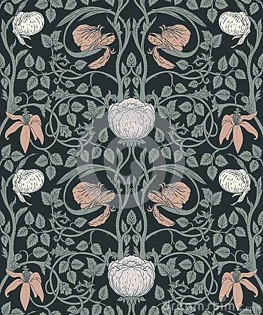 Free Floral Vintage Seamless Pattern For Retro Wallpapers. Enchanted Royalty Free Stock Photo - 114747765