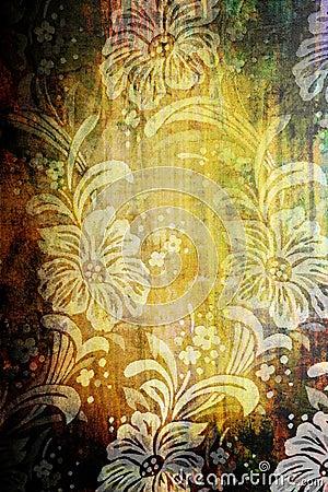 Floral vintage textile