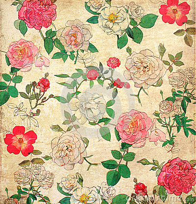 Free Floral Vintage Wallpaper Stock Photography - 27390002