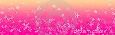Floral web Header, Flower background