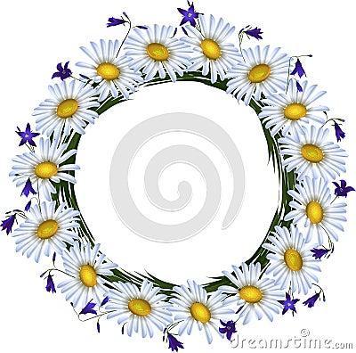Floral wreath (vector)