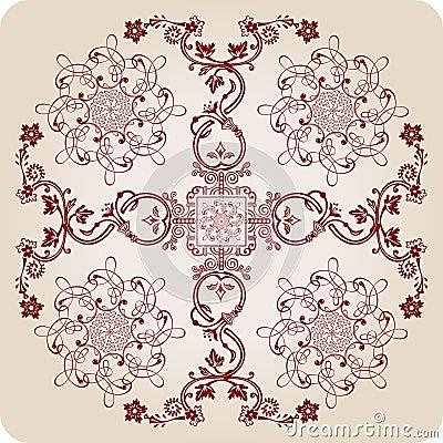 Florel calligraphic elements. vintage ornament