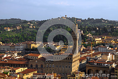 Florence aerial, Italy