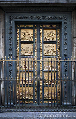 Florence Baptistry detail of doors
