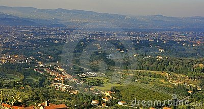 Florence city view from above , Italy