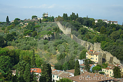 Florence, the city wall