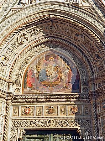 Florence Duomo Cathedral Art detail