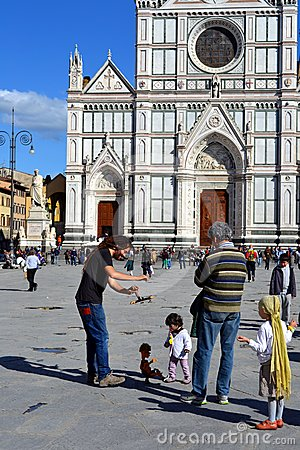 Florence, Italy, Santa Croce  Editorial Stock Photo