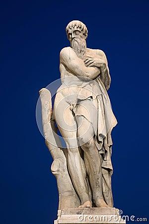 Florence - mythology satue on the bridge