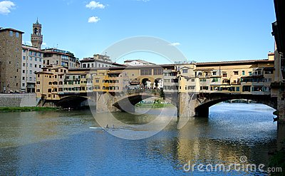 Florence - Ponte Vecchio bridge Editorial Stock Image
