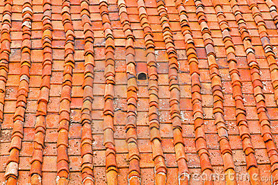 Tuscany Roof Tiles Stock