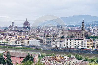 Florence seen from Piazzale Michelangelo, Italy