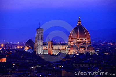 Florence skyline at twilight, Italy.