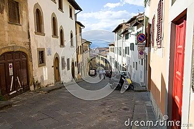 Florence Street scene Editorial Photo