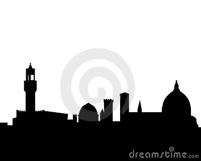 florence vector skyline silhouette royalty free stock