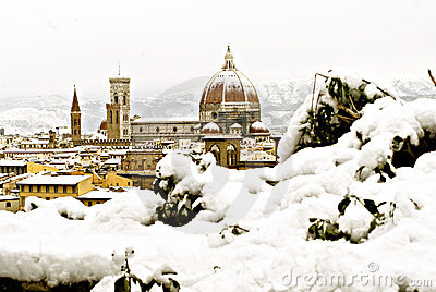 Florence at winter