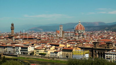 Florenz-Panorama stock video footage