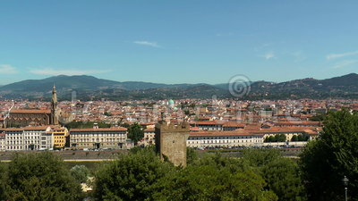 Florenz-Panorama stock video
