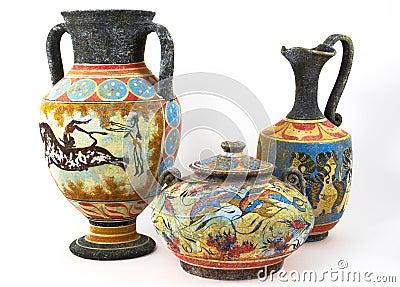 Floreros griegos