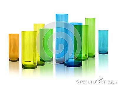 Floreros modernos del vidrio del color imagenes de archivo - Floreros modernos ...