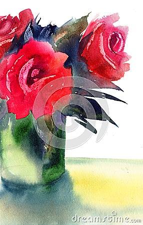 Flores de las rosas