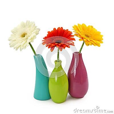 Flores en floreros fotos de archivo imagen 13039143 - Fotos jarrones con flores ...