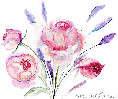 Flores hermosas de las rosas