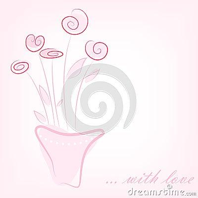 Flores rosadas simples