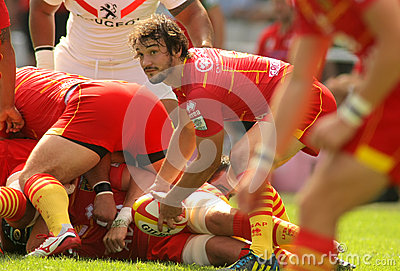 Florian Cazenave of USAP Perpignan Editorial Stock Image